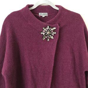 JM Collection Sweaters   Jm Collections Petite Jewel Wrap
